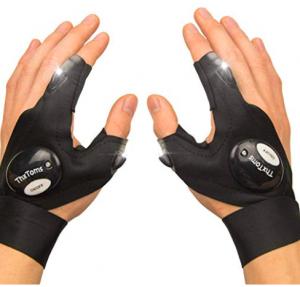 thxtoms led flashlight gloves for fishing