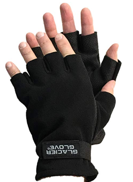 glacier glove alaska river series fingerless fishing gloves
