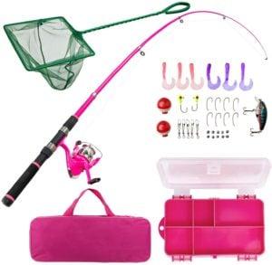 Lanaak Pink Fishing Pole and Tackle Box
