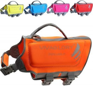 vivaglory premium neoprene dog life jacket