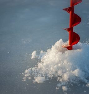 gas powered ice auger