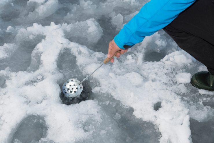 ice scoop for ice fishing