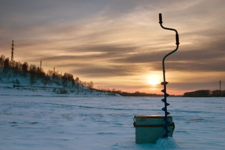 hand powered ice auger