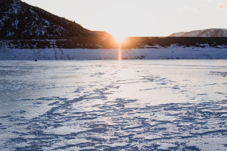 ice fishing montana