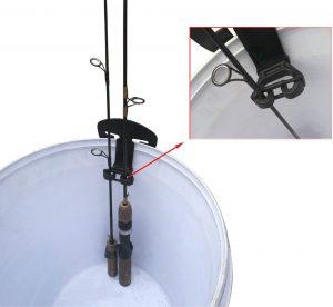 Brocraft Ice Fishing Bucket Rod Storage Organizer