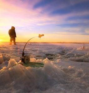 south dakota ice fishing lakes