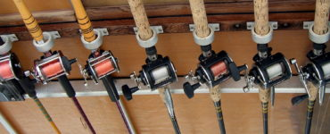 wall mounted fishing rod rack