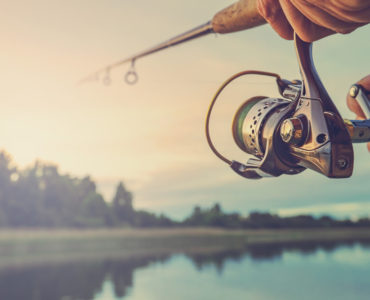 fishing with a spinning reel