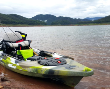 kayak with a trolling motor