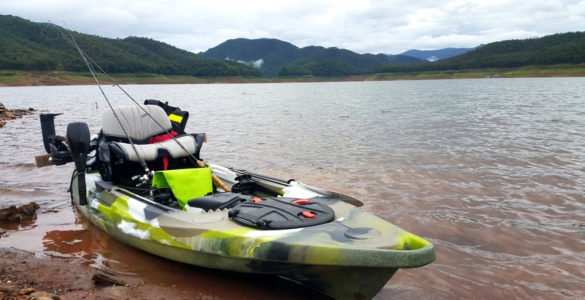 kayak with a trolling motor