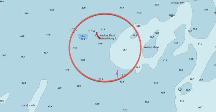 avalon shoal gps coordinates