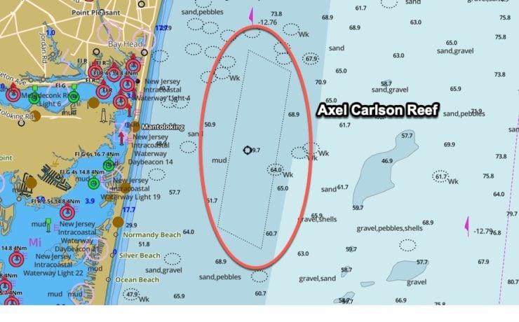 axel carlson reef gps coordinates