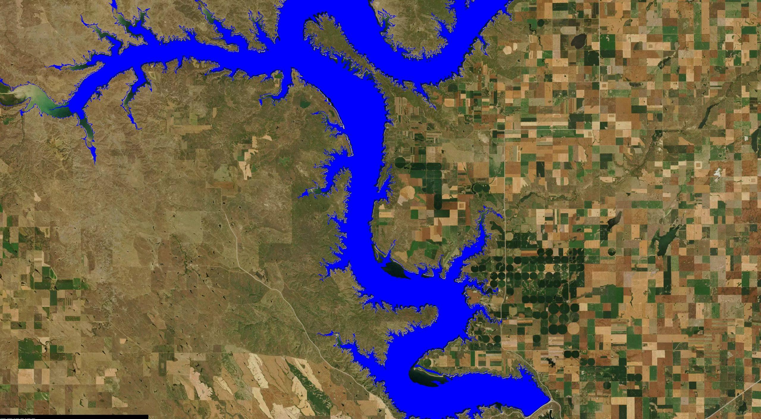 lake oahe map