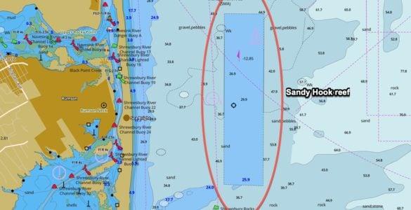 sandy hook reef gps coordinates