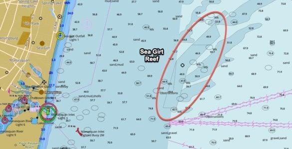 sea girt reef gps coordinates