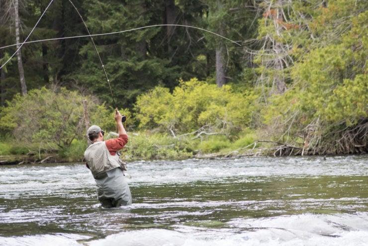 amazing man fly fishing in huntingdon county pa