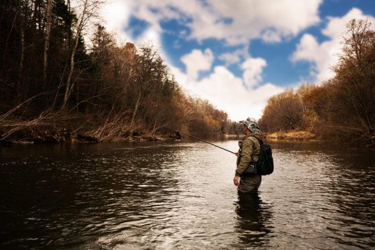 amazing river fishing in bucks county pa