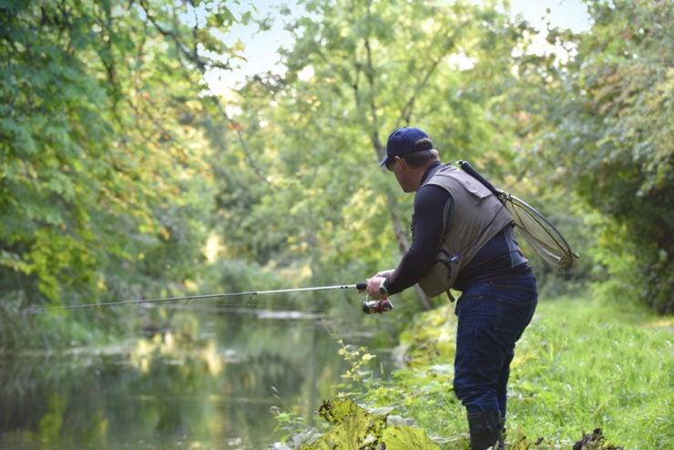 amazing scenery man river fishing in fulton county pennsylvania