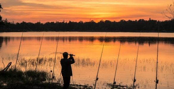 beautiful sunset river fishing in york county pa