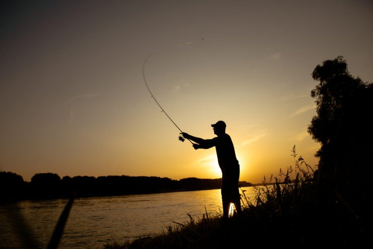 beautiful sunset river fishing in lancaster county pa