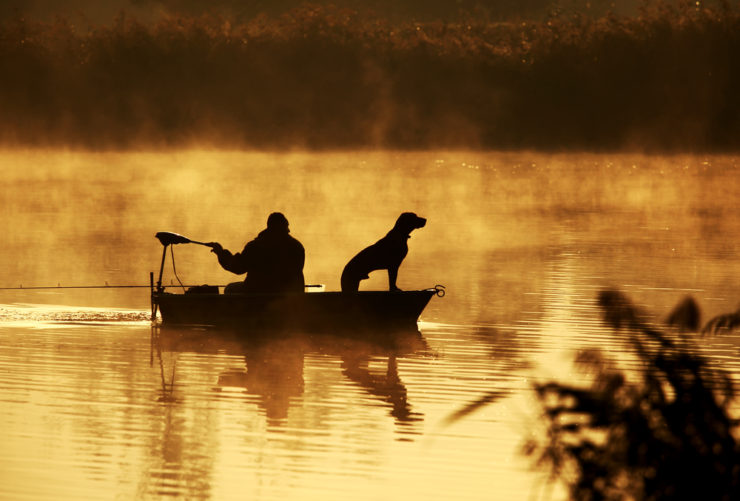 dog and man river fishing in coosa county al