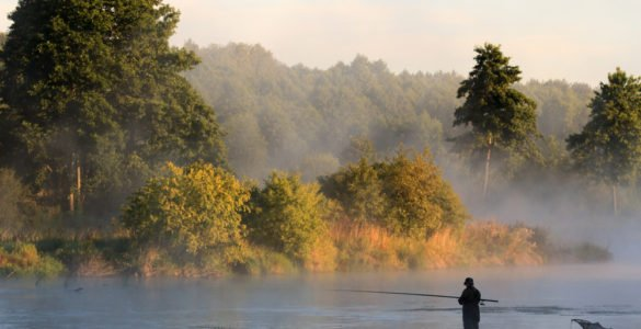 early morning river fishing in union county pa