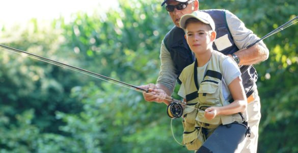 father and son fishing in dallas county
