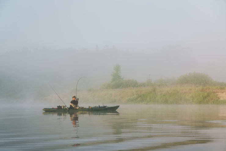 foggy kayak fishing in pickens county al