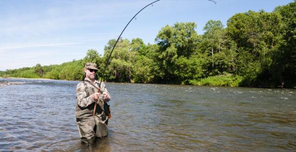 happy man river fishing in calhoun county al