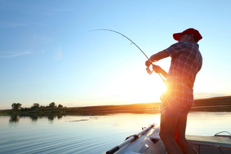 man enjoying fishing in armstrong county