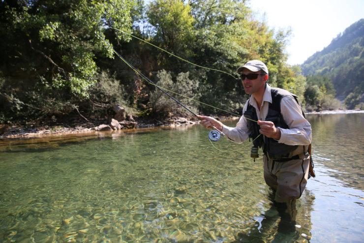 man fly fishing in blount county al