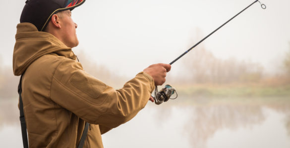 man riverside fishing in warren county pa