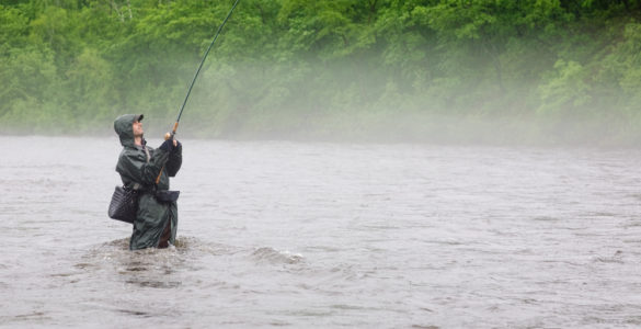 man wade fishing in westmoreland county pa