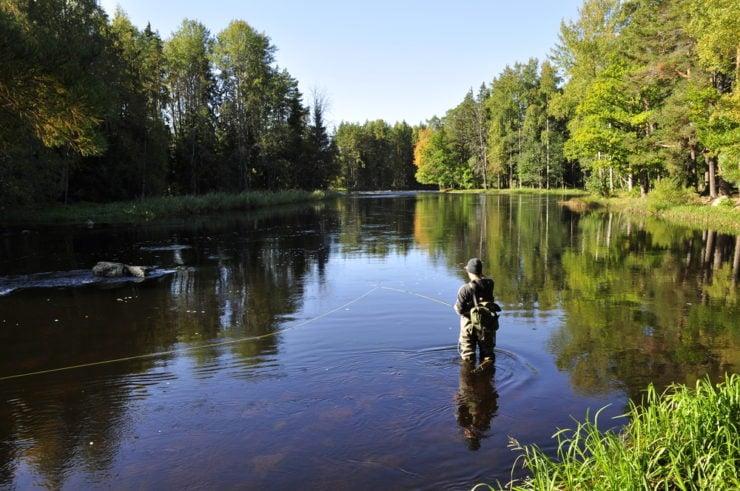 man wade fishing in fayette county pa