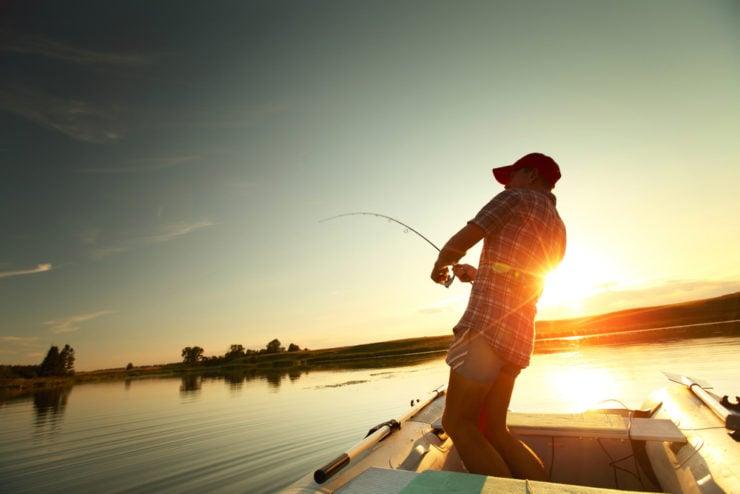stunning sunset river fishing in washington county pa