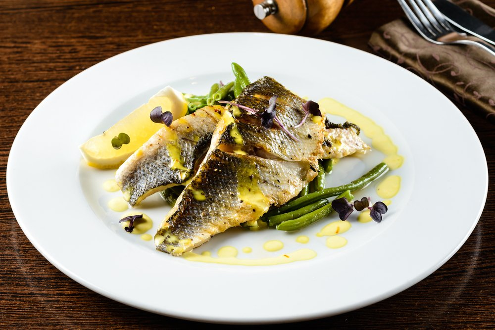 northern pike fillet on a plate