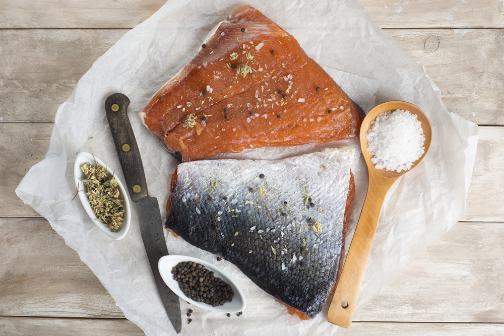 cooking salmon fillets
