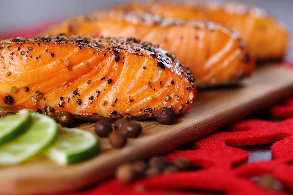 grilled chinook salmon