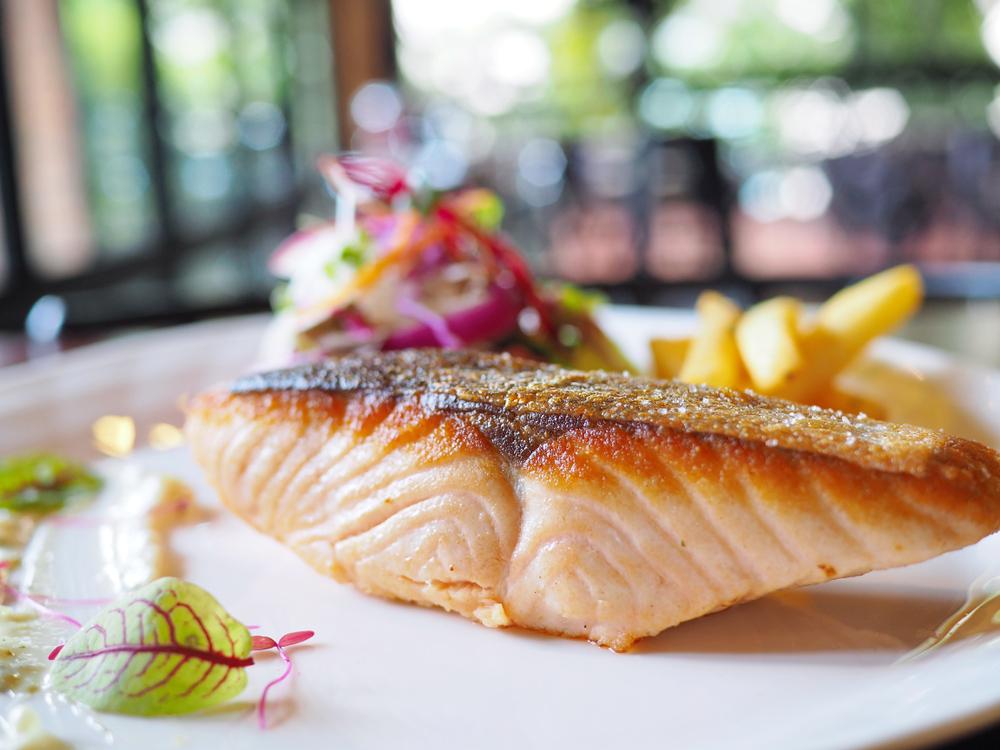 pan seared pink salmon fillet