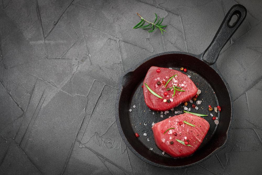 pan seared yellowfin tuna steaks