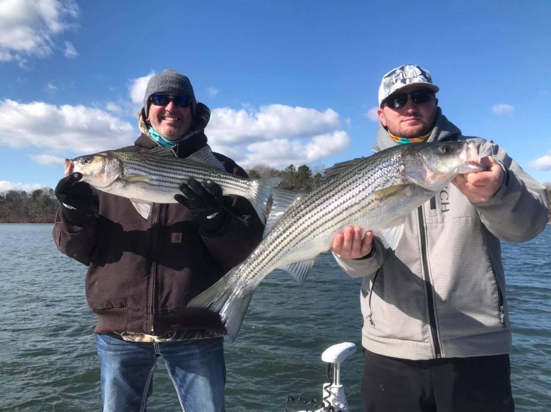 catching not fishing lake lanier stripers