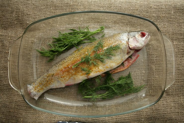 River trout with dill on Shabbat kosher