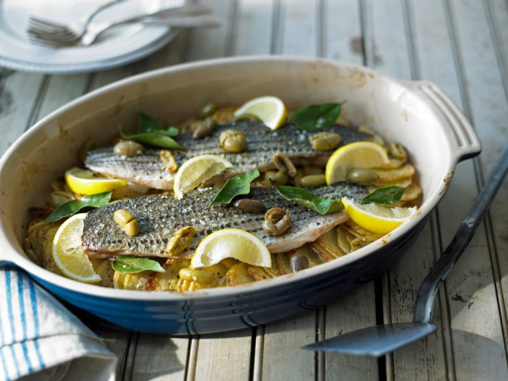 kosher cooked striped bass