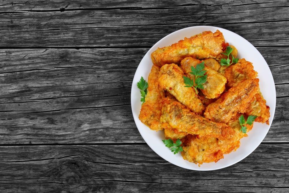 deep fried perch fillets