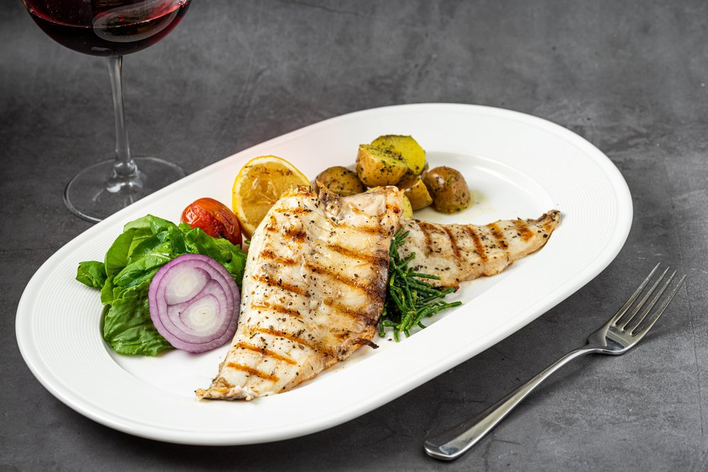 grilled peacock bass fillet