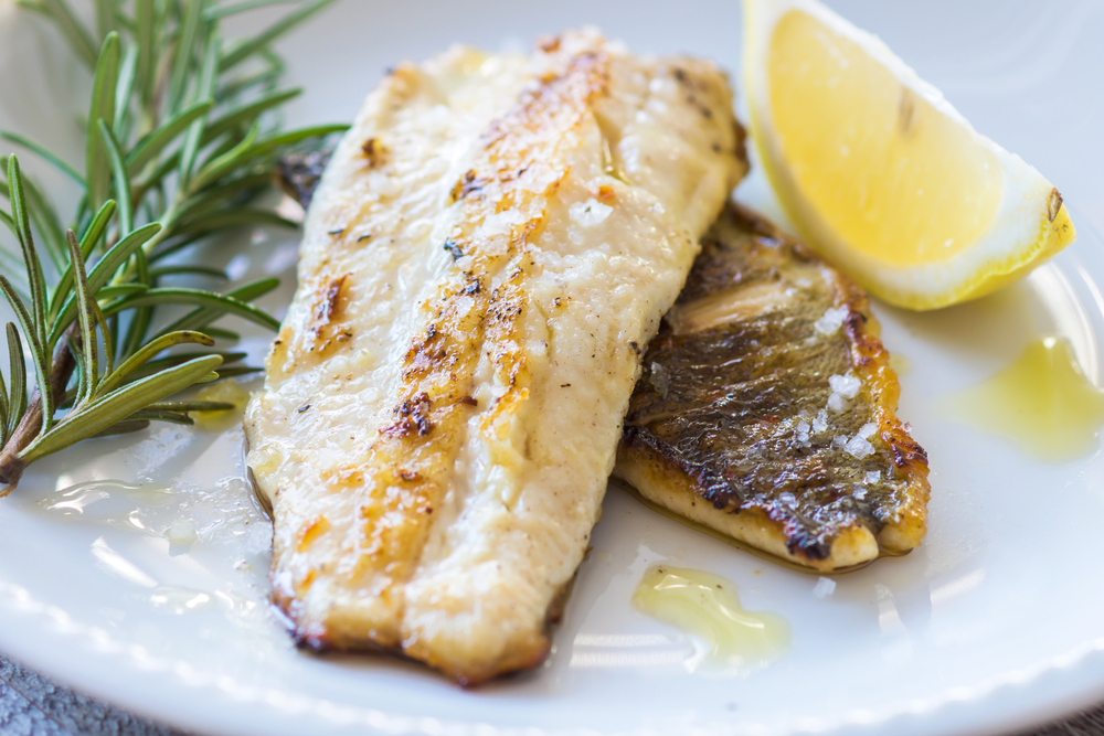 grilled perch fillet